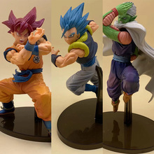 japanese anime Dragon ball Z Gogeta goku Piccolo PVC Action Figure Toys Blue Hair Red collectible Model