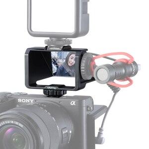 Image 2 - Uurig Camera Màn Hình Lật Giá Đỡ Với Ba Giày Lạnh Để Gắn Micro Đèn LED Video