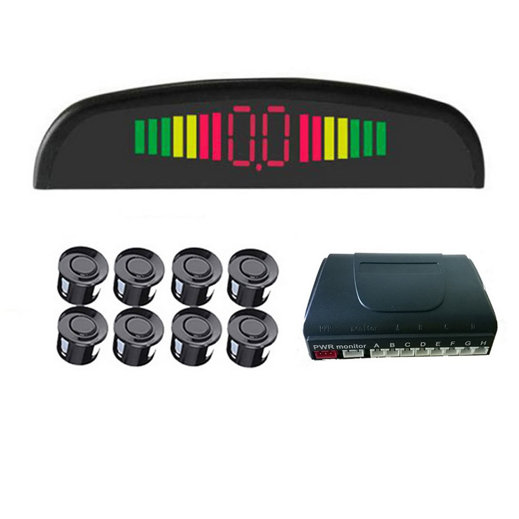 4/6/8 Sensors Buzzer Car Parking Sensor Kit Reverse Backup Radar Sound Alert Indicator Automobile Alarm Systems