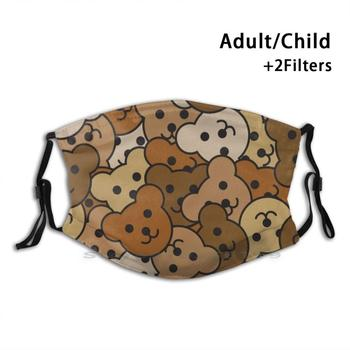 Jumble Teds Cute Print Reusable Pm2.5 Filter DIY Mouth Mask Kids Bear Teddy Teddybear Pride Gay Cute image