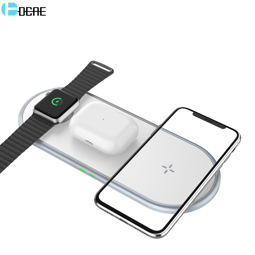 3 in 1 Wireless Charger For Airpods Pro Apple Watch 5 4 3 2 iWatch 15W Qi Fast Charging Pad for iPhone 11 XS X 8 Samsung S20 S10