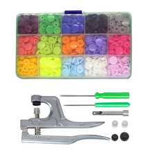 DIY T5 Plastic Snap Button with Snaps Pliers Tool Kit Organizer Containers Easy Replacing Snaps Family Tailor Sewing Tool