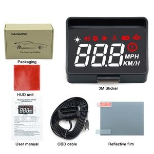 Image 4 - Проектор на лобовое стекло A100S, универсальная интеллектуальная система сигнализации с дисплеем, предупреПредупреждение о превышении скорости, OBD2