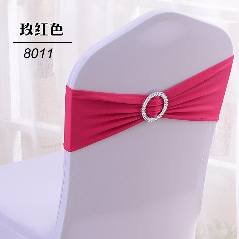 50pcs Spandex Chair Sashes Lycra Chair Bands With Buckle For Wedding Decor Stretch Bow Knot Chair Cover Decoration Cheap