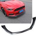 Новый 3 шт. автомобильный передний бампер для губ подбородок спойлер разветвители диффузор наборы для тела Ford для Mustang 2015 2016 2017 Черный ABS
