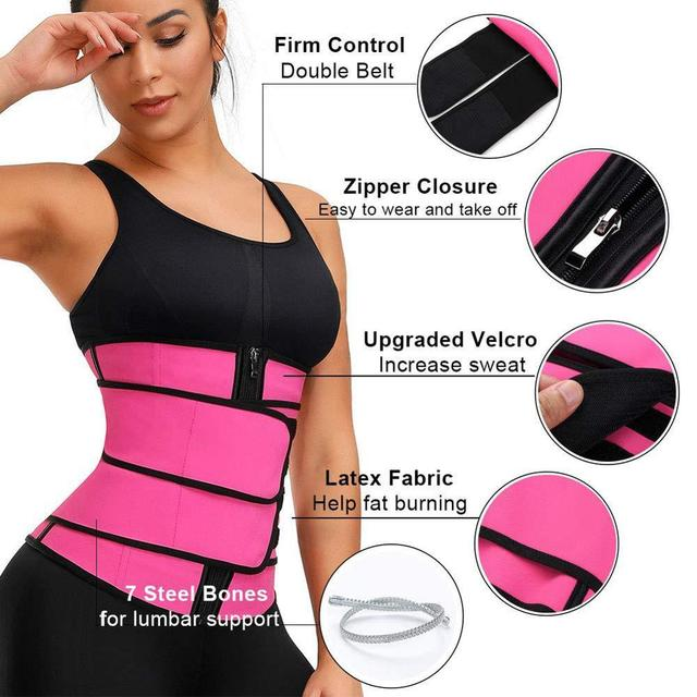 S-XXXL Plus Size Waist Trainer Belt Women High Waist Sweat Shaper Thigh Trimmers Adjustable Sauna Belt 1