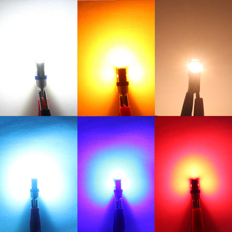 2 uds., W5W 3030 SMD, coche T10 LED 194 168, reemplazo de cuña, Panel de instrumento inverso, lámpara blanca, bombillas azules para las luces de liquidación