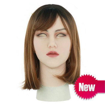 Handmade Breasts Silicone Mask Artificial Realistic Skin May Latex for Crossdresser Transgender Male Shemale Cosplay Drag Queen