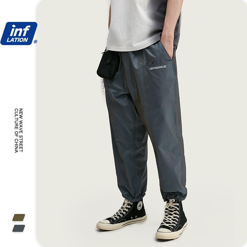 INFLATION New Arrival Drawstring Straight Mens Pants Streetwear Men Pants Broadcloth Regular Fit Men Summer Casual Pants 3025S2