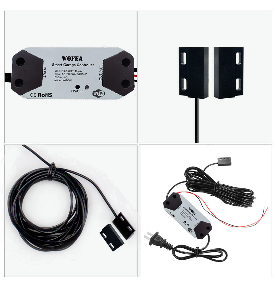 H599100be1ebb4877b4858cb1709dd5892 Wofea WiFi Switch Smart Garage Door Opener Controller Work With Alexa Echo Google Home SmartLife/Tuya APP Control No Hub Require