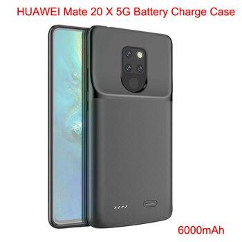 Перейти на Алиэкспресс и купить Huawei mate 20X5G 6000mAh зарядное устройство чехол power Bank Charing чехол для huawei mate 20X5G зарядное устройство чехол