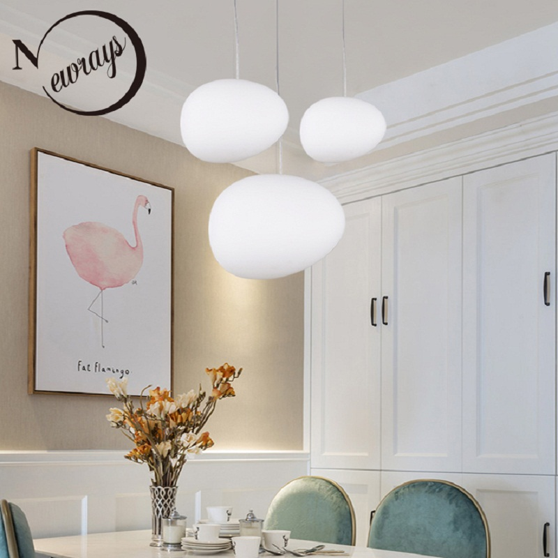 Pebble Pendant Lights Nordic Design Living Room Dining Room Personality Glass Pendant Lamps Shopping Mall Bedroom Cafe Lighting