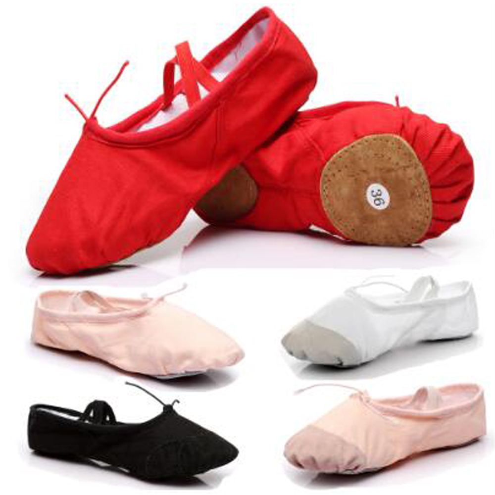 Canvas Ballet Shoes For Dancing Pointe Dance Shoes For Girls Ballet Sneaker For Kids Children Dance Ballet Slippers Shoes B01