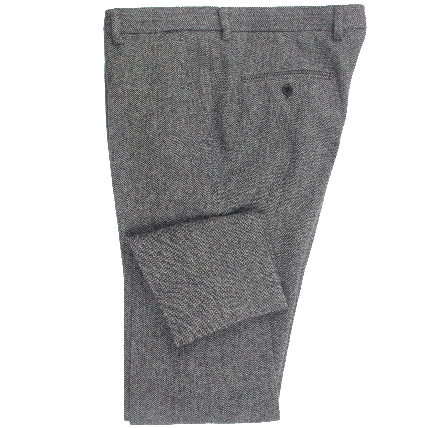 2020 Heavy Warm Wool Blend Pants Tailor Made Dark Grey Herringbone Men Slim Fit Business Dress Pants Heavy Winter Pants