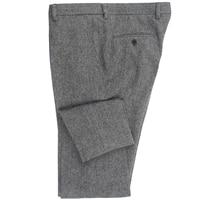 2020 Heavy Warm Wool Blend Pants Tailor Made Dark Grey Herringbone Men Slim Fit Business Dress Pants Heavy Winter Pants
