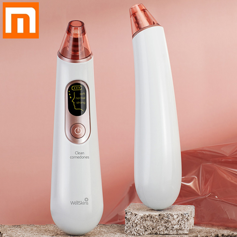 Xiaomi Wellskins Electric Blackhead Cleaner Deep Pore Cleanser Acne Pimple Removal Vacuum Suction Facial SPA Facial Care Tools