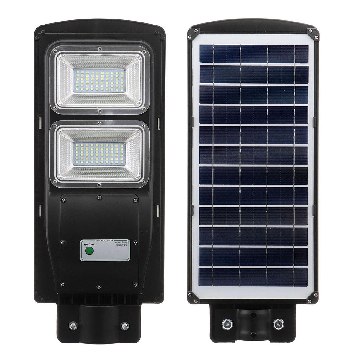 60W LED IP67 Solar Street Light Radar with PIR Motion Sensor Outdoor Lighting Wall Lamps Solar Landscape Garden Lights