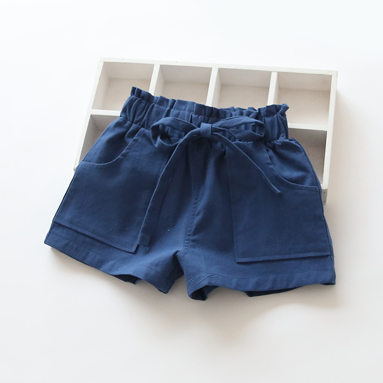 Summer Kids Casual Shorts Soft Cotton Beach Trousers Baby Girl Pure Color Short Pants Children's Wear