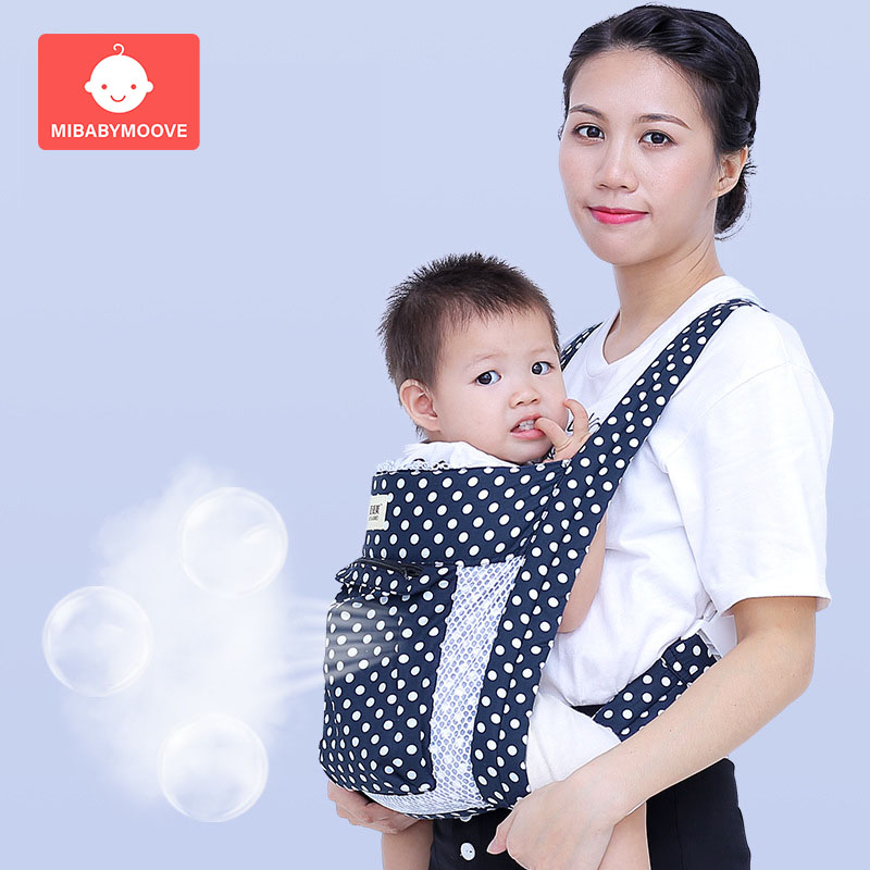 Baby Carrier Sling Ergonomic Kangaroo Backpack Sling Cotton Front Facing Infant Baby Hipseat Wais Carrier Wrap For Travel 3-36M