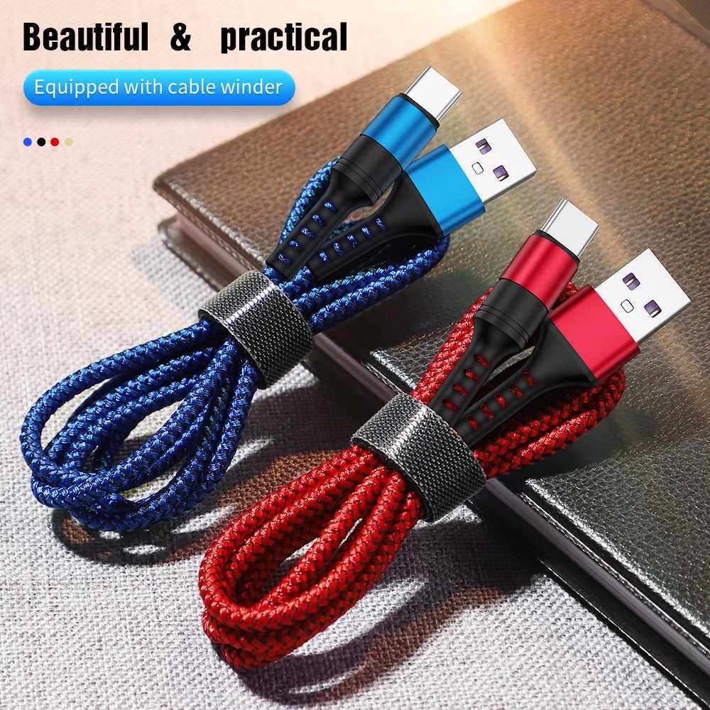 5A USB Loại C Sạc Nhanh USB C cho Huawei P30 P20 Lite Siêu Cáp sạc Nhanh cho cho Tiểu mi Mi 9 Samsung S10 S9 Note 9
