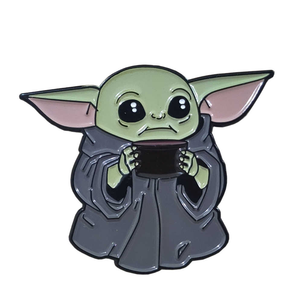yoda smalto duro pin distintivo spilla