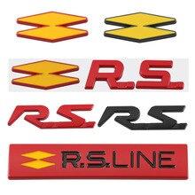 Samochód RS naklejki naklejki z literami i cyframi dla Renault RS linia Clio Megane Scenic laguna Logan Koleos Sandero Safrane Velsatis Arkana talizman