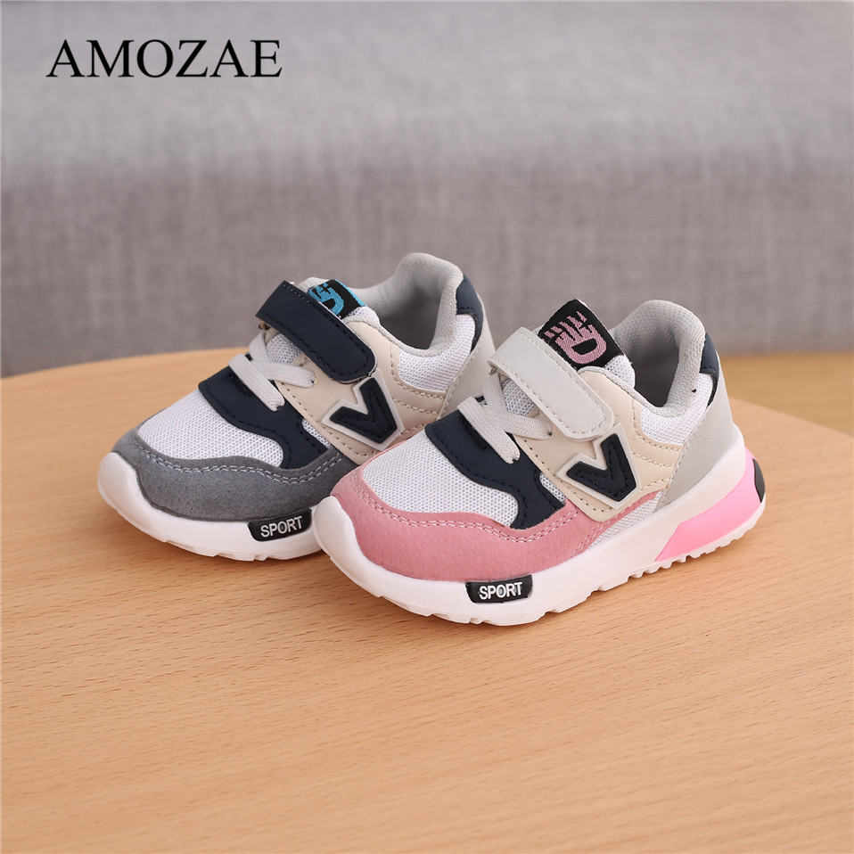 Spring Autumn Kids Shoes Baby Boys Girls Children's Casual Sneakers Breathable Soft Anti-Slip Running Sports Shoes Size 21-30 2