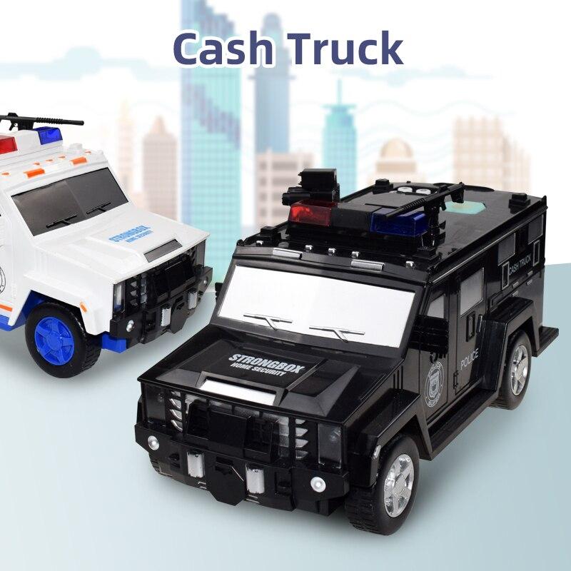 Moneybox Paper Money Box Kids Big Safe Saving Coin Box Large Music Toy Music Password Cash Truck Car Piggy Bank