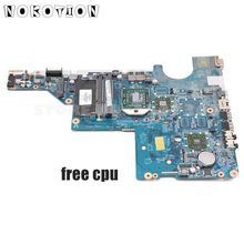 Nokotion 592809-001 DA0AX2MB6E1 Main Board Voor Hp Compaq CQ42 CQ62 G42 G62 Laptop Moederbord Socket S1 DDR3 Gratis cpu