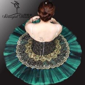 Image 5 - Tutú de Ballet profesional para adultos Tutús de ballet clásico para niñas, color negro y verde, nutcrackererbt8941