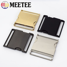 2pc Meetee Metal Buckles 30/40/45/50mm Quick Side Release Buckle Dog Collar Web Belt Clip DIYLeathercraft Garment Bags Accessory