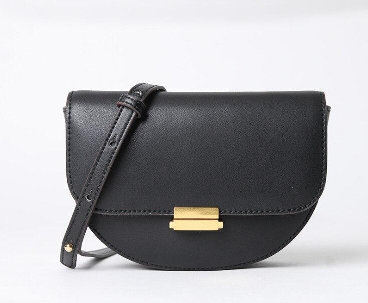 Split Leather Women Belt Bag Waist Packs Small Saddle Bags