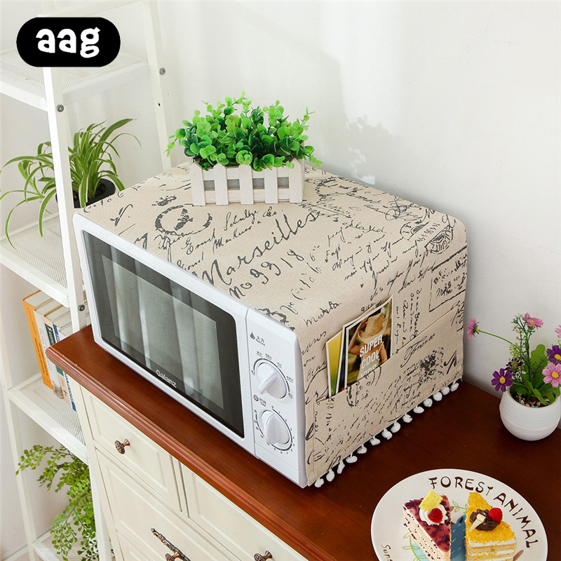 AAG Microwave Cover Oven Hood Oil Dust Cover With Storage Bag Kitchen Accessories Supplies Home Decoration Microwave Cover