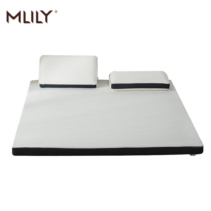 Mlily Memory Foam Mattress Toppper Slow Rebound 4cm Mattress King Queen Full Twin Size Bed Mattress