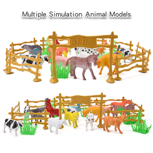 28PCS Children's Farm Animal Cognitive Simulation Model Set Gift Scene Model