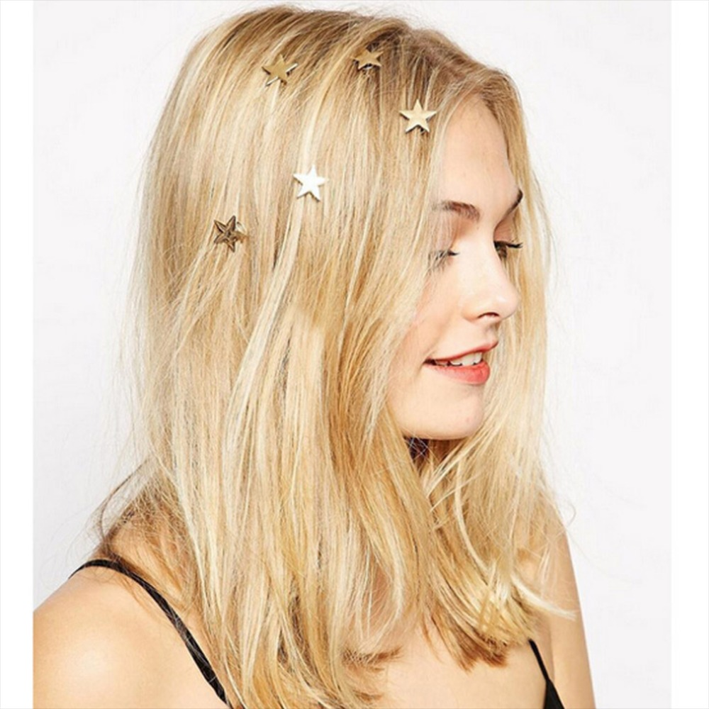 5Pcs Moon Star Headdress Wedding Hair Comb Bridal Hair Accessories  Version Of Jewelry Cute Personality Wild Hairpins