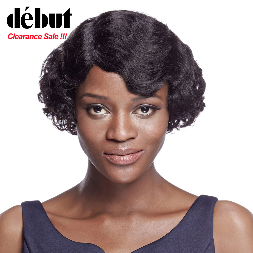 Cheap Human Hair Wigs Short Bob Wigs Debut Loose Wave Wigs For Black Women Brazilian Remy Hair Natural Color Free Shipping