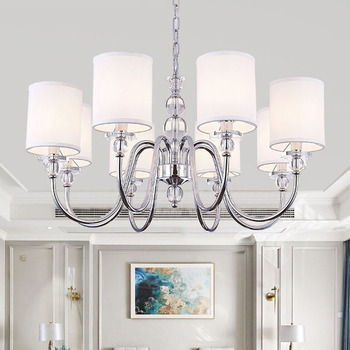 Modern Chandelier Chrome Metal Led Chandeliers Lighting Crystal Living Room Led Pendant Chandeliers Lights Bedroom Lights chandelier lighting modern crystal lights export k9 crystal chandelier candle chandeliers crystal villa living room chandelier