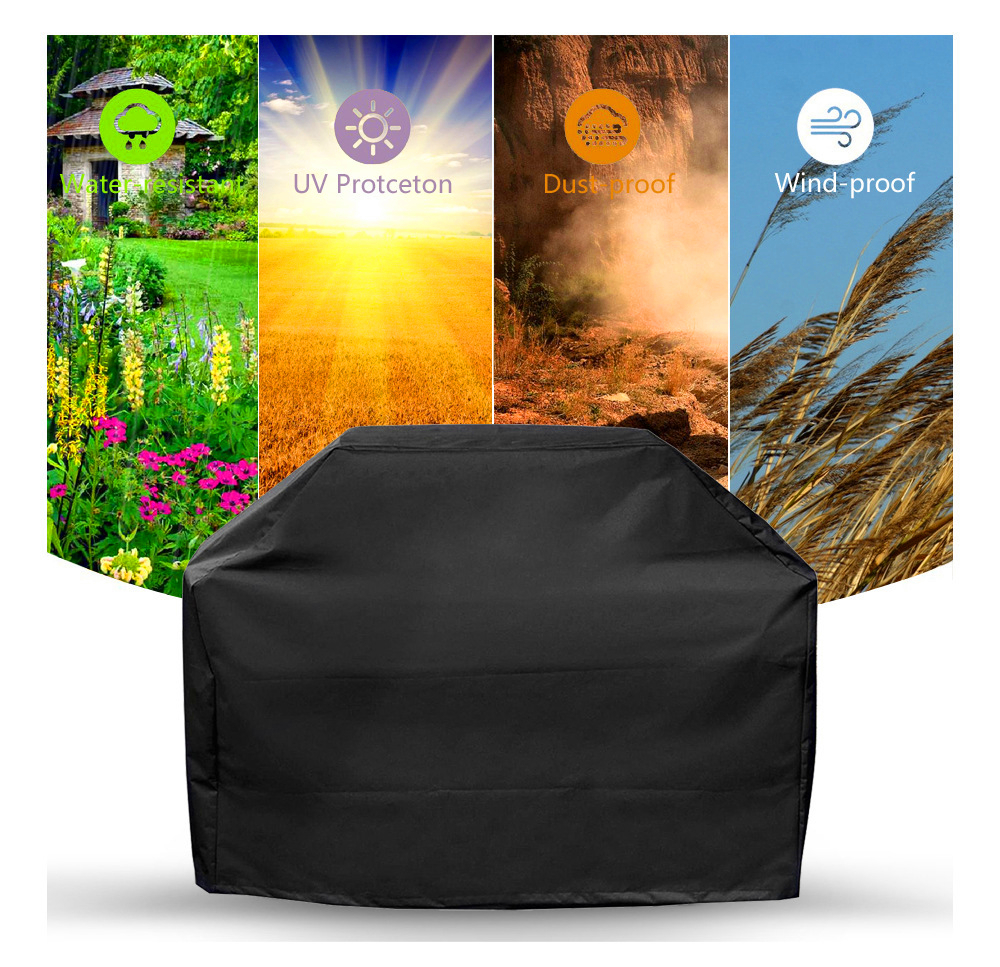 Waterproof BBQ Grill Cover Barbeque Anti Dust Protector Durable Barbecue Outdoor Gas Charcoal Electric Bag Covers Accessories