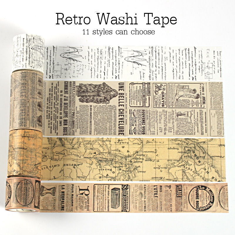 Vintage Washi Tape Set Decoration Scrapbooking  Japanese Paper  Masking Stationery  Decorative Wash Whasi Decorada Stickers