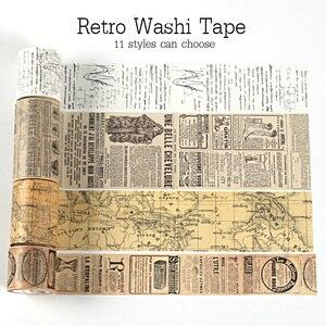 Vintage Washi Tape Set Decoration Scrapbooking Japanese Paper Masking Stationery Decorative Wash Whasi Decorada Stickers(China)