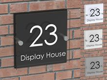 Modern House Signs Address Plaques Home Number Acrylic Door Sign Name Business Plaques Personalise Custom-Made office sign custom made 2 tile address plaque in grey