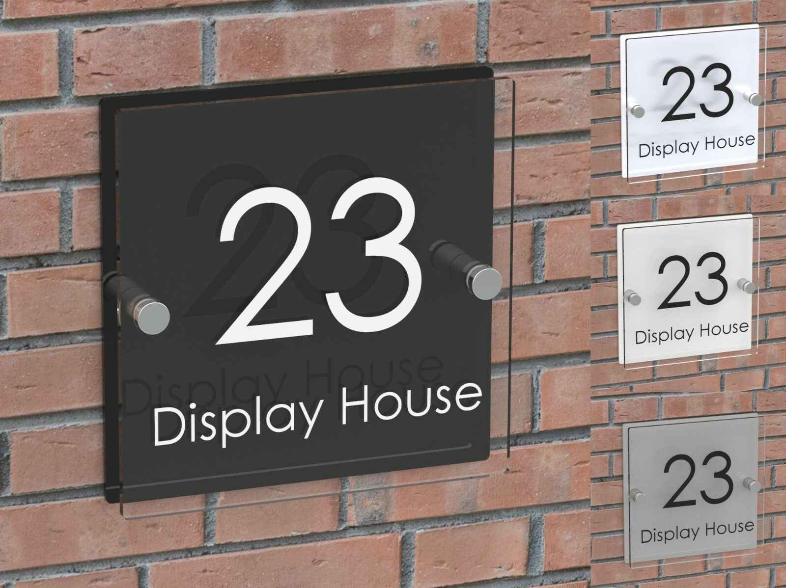 Modern House Signs Address Plaques Home