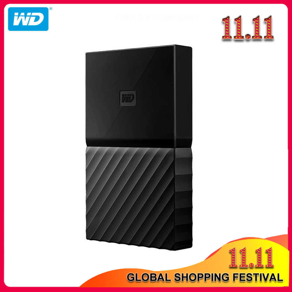 100% Original Western Digital mon passeport HDD 1 to 2 to 4 to USB 3.0 Portable disque dur externe avec câble HDD Windows Mac