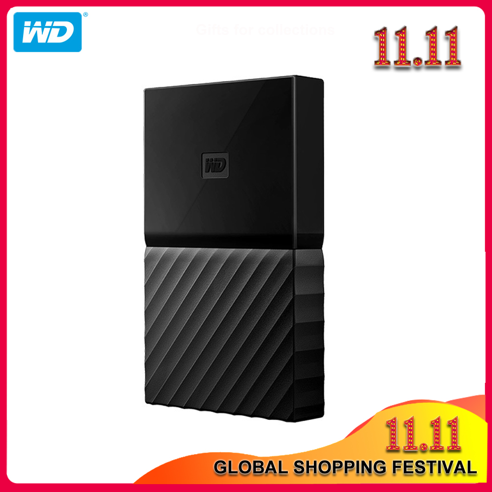 100% Original Western Digital My Passport HDD 1TB 2TB 4TB USB 3.0 Portable External Hard Drive Disk with HDD Cable Windows Mac title=
