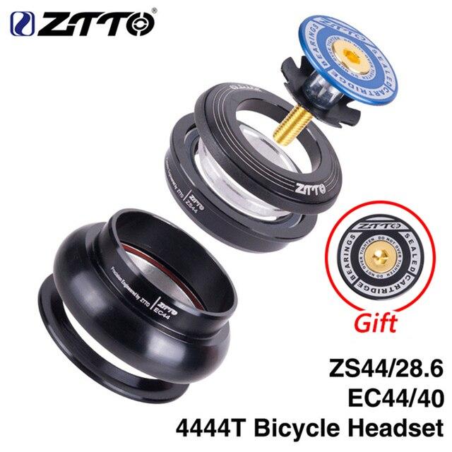 "ZTTO MTB bisiklet kulaklık 44mm ZS44 EC44 CNC 1 1/8 "" 1 1/2"" düz tüp çerçeve konik tüp çatal 1.5 adaptörü kulaklık 4444T"