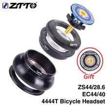 """Ztto mtb bicicleta fone de ouvido 44mm zs44 ec44 cnc 1 1/8 """" 1 1/2"""" tubo reto quadro para tubo cônico garfo 1.5 adaptador fone de ouvido 4444t"""