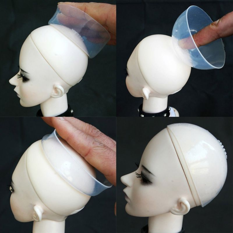 New <font><b>1/3</b></font> 1/4 1/6 1/12 Silicone Headgear For <font><b>BJD</b></font> Doll Silica Gel Hair wigs Cover image