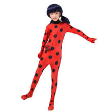 купить Fantasia Kids Lady Bug Costumes Girls Women Child Spandex Ladybug Costume Jumpsuit Fancy Halloween Cosplay Marinette по цене 1163.24 рублей