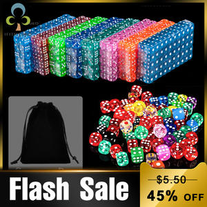 Dice 14MM Cubes Board-Game Corner Round Acrylic Digital Portable 30pcs with Bag GYH Party